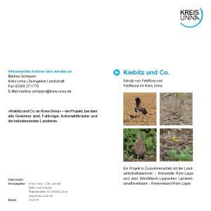 Flyer zum Schutz von Kiebitz und Co. des Kreises Unna