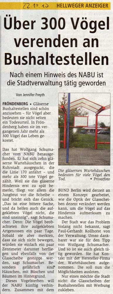Hellweger Anzeiger vom 22.10.2010