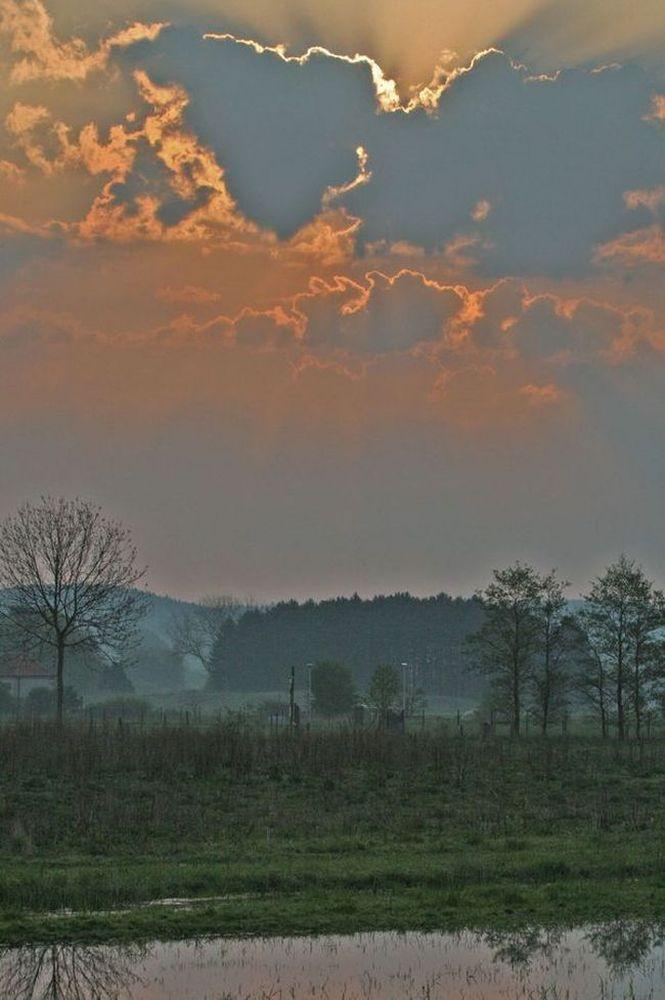 Morgenstimmung am Ostersonntag auf der Kiebitzwiese am 24.04.11 Foto: Gregor Zosel