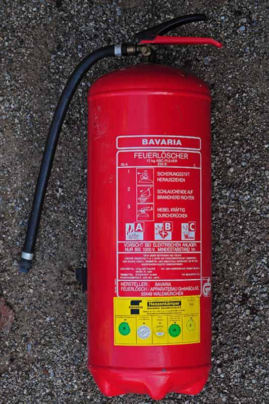 Feuerlöscher mit der Art. Nr: 15431, 30.12.2012 Foto: Marvin Lebeus