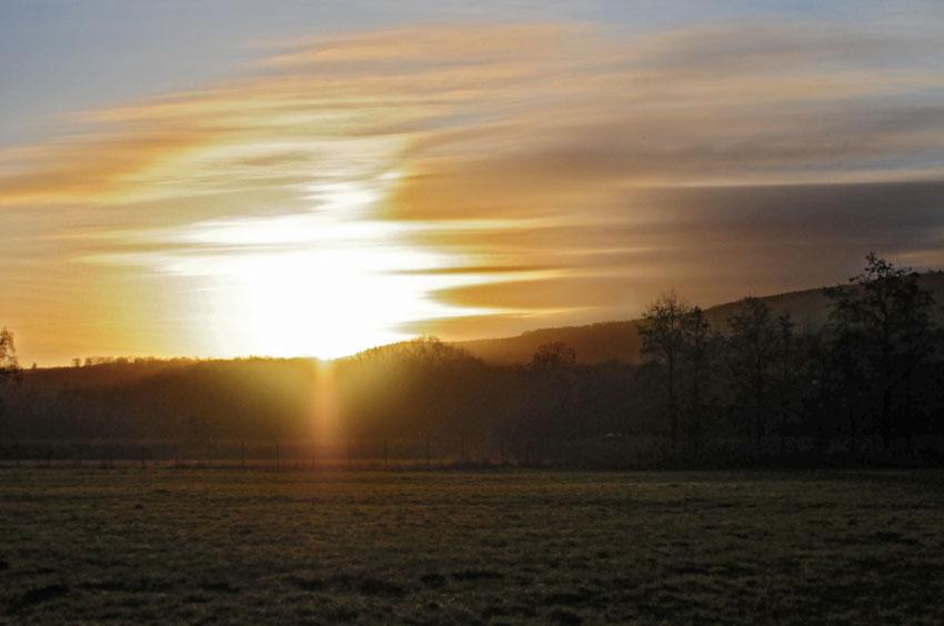 Grandioser Sonnenaufgang über dem Hammer Wasserwerk, 28.12.2012 Foto: Marvin Lebeus