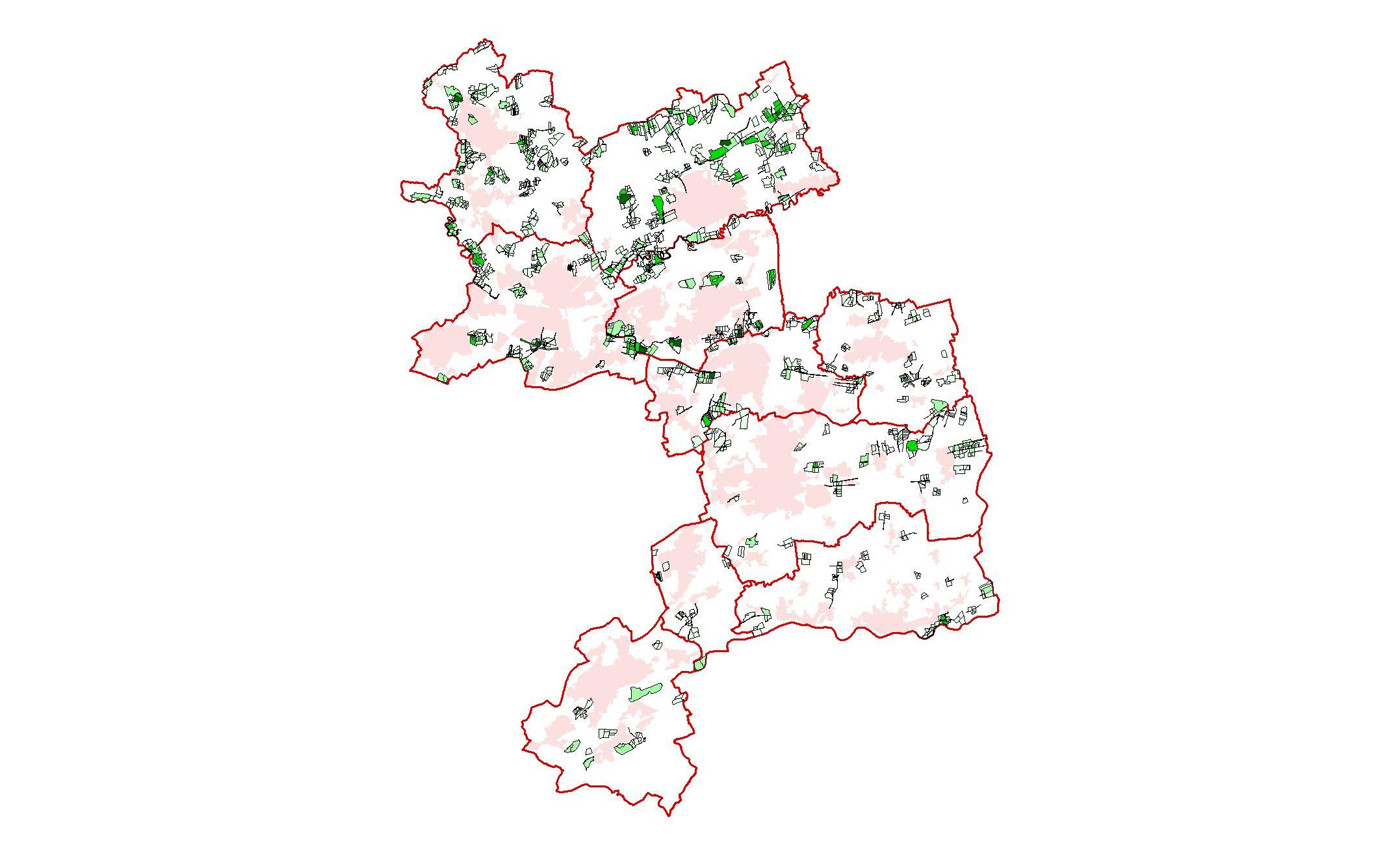 Flächentreue brutverdächtige Kiebitze im Kreis Unna 1999 - 2013
