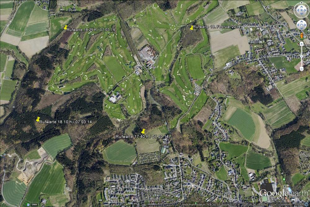 Grauspechtrevier mit Rufwarten in der Peripherie der beiden Fröndenberger Golfplätze, 07.03.2014 Foto: Bernhard Glüer