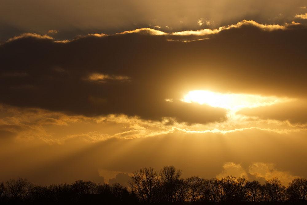 Sonnenuntergang, Kiebitzwiese Fröndenberg, 02.12.2016 Foto: Rainer Hebeler