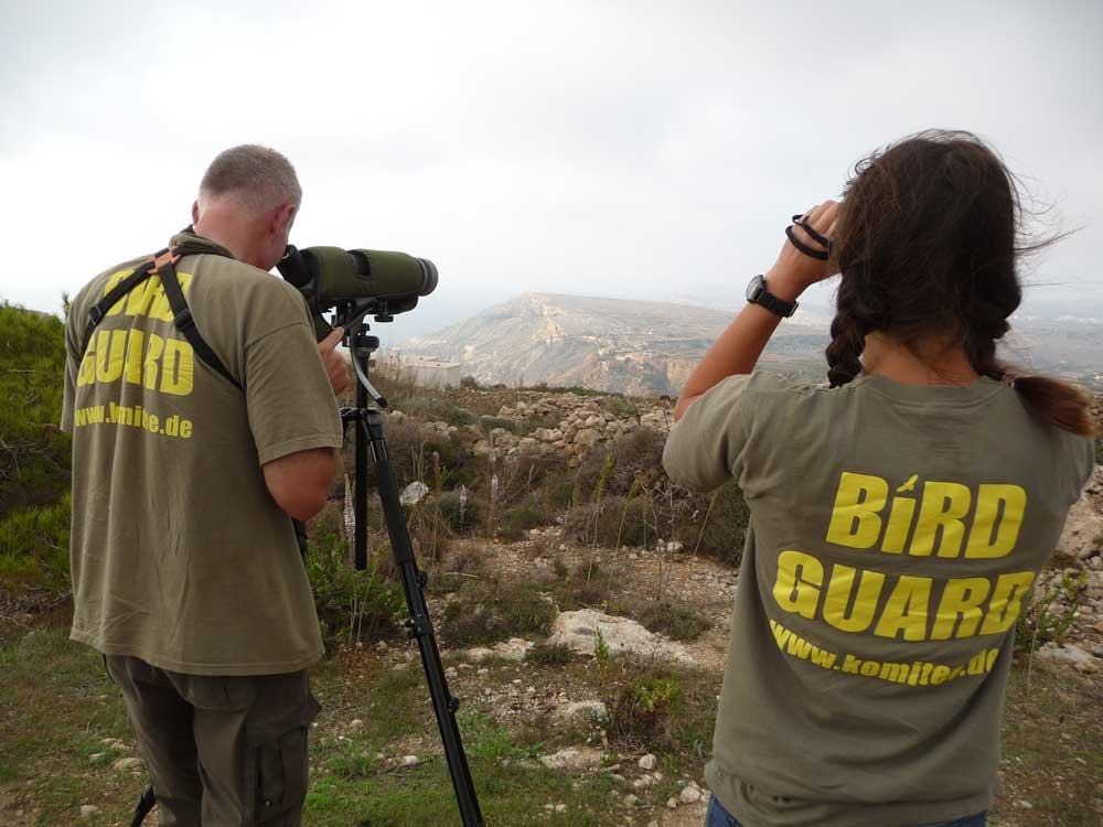 Birdguards auf Malta Foto: Komitee gegen den Vogelmord