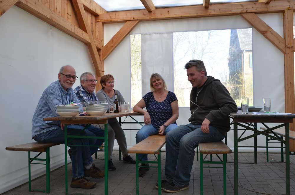 Verdienter Abschluss - Kiebitzschmaus in Bergkamen-Heil, 07.04.2018 Foto: Kerstin Conrad
