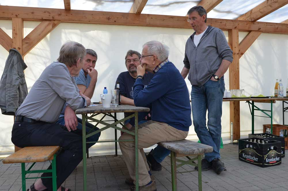 . . . stellvertretend für alle KartierInnen: Zähler aus Selm und Lünen, 07.04.2018 Foto: Kerstin Conrad