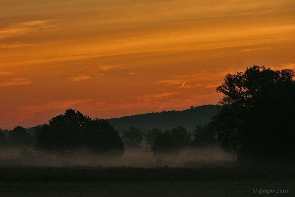 Früh aufstehen hieß es heute. Da bekomt man natürlich den traumhaften Sonnenaufgang mit.......am 16.09.18 Foto: Gregor Zosel