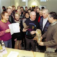 1. Arbeitstreffen der OAG Kreis Unna am 24.01.1998 mit dem leider verstorbenen Alexander Mack im Vordergrund Foto: B. Paulitschke
