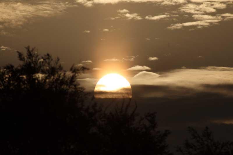 Sonnenaufgang bei Falsterbo/Schweden am 27.08.08 Foto: Gudrun Goßmann